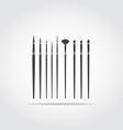 Art Brush Black Icon vector image vector image