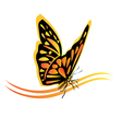 Monarch butterfly logo vector image