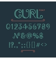 Numbers and extra characters for a font vector image