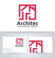 Architect House logo with business card tem vector image