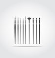 Art Brush Black Icon vector image