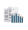 bars statistics with business icon vector image