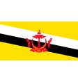 Bruneian flag vector image