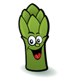 Happy asparagus character vector image