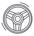 steering wheel line icon sig vector image