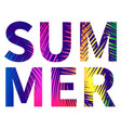 summer poster with colorful letters vector image