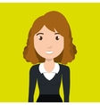woman girl work icon vector image
