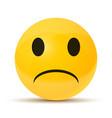 yellow sad face vector image