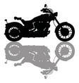 Black silhouette of heavy motorcycle vector image