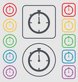 Timer sign icon Stopwatch symbol Symbols on the vector image