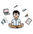Businessman Relaxing Design vector image
