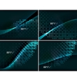 Set of abstract backgrounds with copyspace vector image vector image