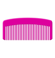 pink comb vector image vector image
