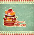 Vintage Cafe or Confectionery Dessert Menu vector image