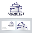 Architect Company logo with business card vector image