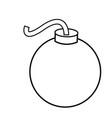 bomb graffiti cartoon grunge artist design vector image
