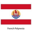 Flag of the country french polynesia vector image