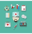 flat of science and technology vector image