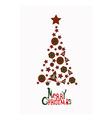 Merry Christmas card with abstract christmas tree vector image