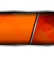 Orange background template design vector image