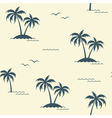 Palms seamless background vector image