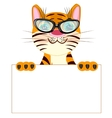 Tiger with poster vector image
