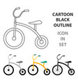 tricycle icon in cartoon style isolated on white vector image