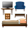 Wooden furnitures vector image