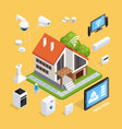 smart house isometric composition poster vector image