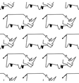 Seamless pattern of a stylized rhinoceros vector image vector image