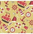 seamless Pattern on the marine theme vector image