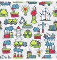 Industrial sketch seamless pattern vector image