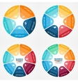 color circle infographics set Template for diagram vector image