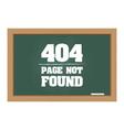 404 error message on chalkboard vector image