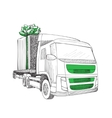 Delivery transport truck vector image