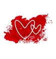 Valentine Day Watercolor Card vector image