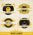 Music Badge Labels vector image vector image