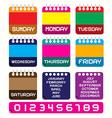 Calendar Set Retro Colorful Paper Calendars vector image