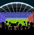 cartoon soccer supporter foot ball vector image