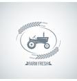 farm fresh tractor design background vector image