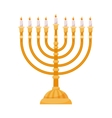 Hanukkah menorah isolated on white vector image