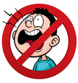 No talking vector image