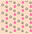 seamless pattern sweet glazed donuts vector image
