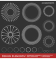 Set of geometric hipster shapes and logotypes654 vector image