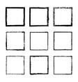 set of square frames drawn 4 vector image