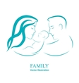 Sketch mom and dad holding a small child vector image