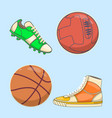 sneakers icon in flat style isolated on white vector image
