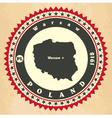 Vintage label-sticker cards of Poland vector image