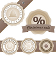 Winter vintage discount labels set vector image