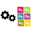 gear or cog icons vector image vector image